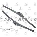 CR-V  X-TRAIL MUZ TiP RETROFIT SiLECEK SuPuRGESi TAKIM 26+ 17 (650mm+430mm)