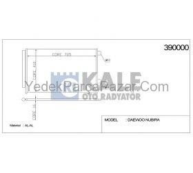 KLiMA RADYAToRu RAV-4 06- 2.0 BENZiNLi 2.2 DiZEL D4D 686x408x16